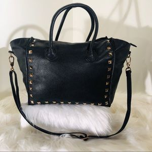 Neiman Marcus Black Tote with gold accent;